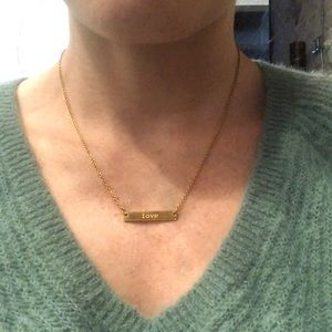 jook and nona Jewelry - Gold plated necklace - LOVE